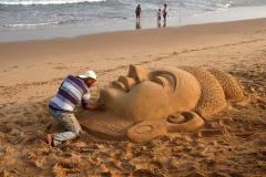 FIAP HM Ribbon-PARTHA SAMAL-SAND SCULPTURE-India